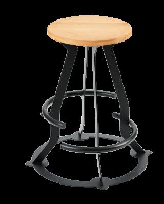 Kitarski stol Prodigy z dvojnim naslonom za noge in nosilcem za kitaro s sedalom iz hrasta