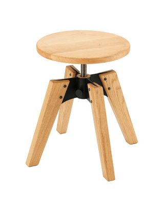 Kitarski stol 1969 hrast z lesenim sedalom oljen