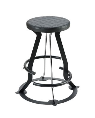 Prodigy double footring guitar stool, faux leather seat, double stitching