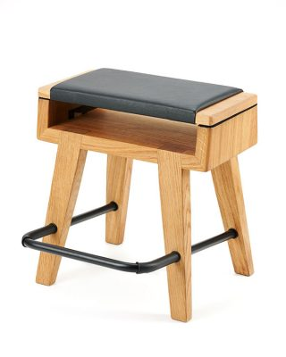 Harmony oak frame guitar stool/stand/footrest combo