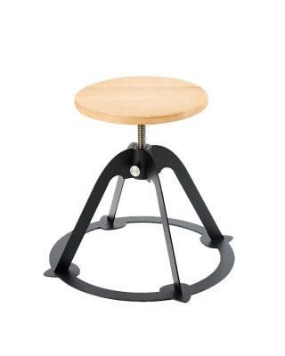 Spinner steel frame swivel guitar stool, oak seat