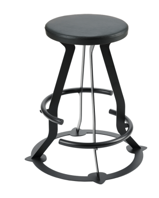 Prodigy double footring guitar stool, faux leather seat