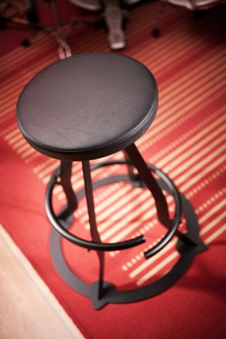 Prodigy double footring guitar stool, faux leather seat top